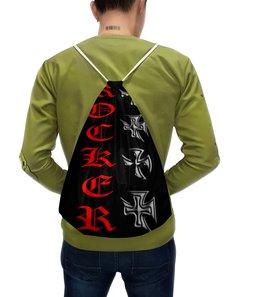 """Рюкзак-мешок с полной запечаткой """"Рокер"""" - рок, металл, для рокера, для байкеров"""