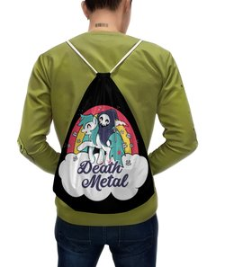 """Рюкзак с полной запечаткой """"Death Metal"""" - приколы, радуга, пони, смерть, death metal"""