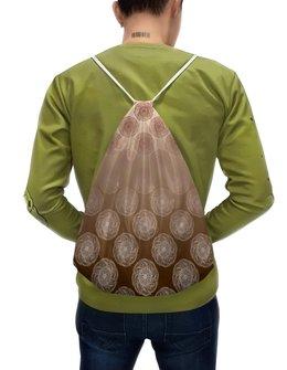 """Рюкзак-мешок с полной запечаткой """"Узор из мандал 2-х сторонний"""" - узор, орнамент, мандала, этнический, индийский"""