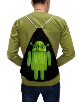 """Рюкзак-мешок с полной запечаткой """"Шрёид"""" - шрек, андроид"""