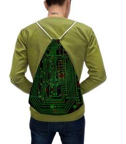 """Рюкзак с полной запечаткой """"Печатная плата"""" - печатная плата, микросхема, технологии, электроника, электрика"""