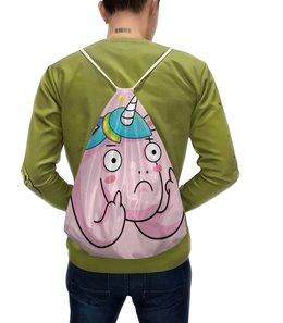 """Рюкзак-мешок с полной запечаткой """"Unicorn / Единорог """" - графика, unicorn, иллюстрация, единорог"""