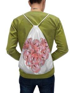 """Рюкзак-мешок с полной запечаткой """"Розовые розы"""" - сердце, цветы, розы, букет, розовые цветы"""