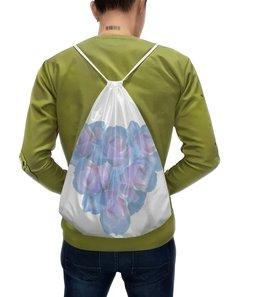 """Рюкзак-мешок с полной запечаткой """"Нежные цветы """" - сердце, цветы, розы, пастель, нежные цветы"""
