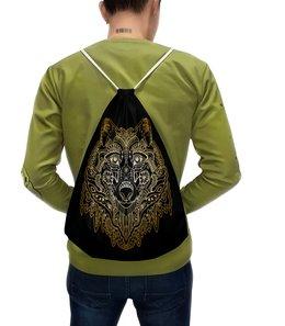 """Рюкзак с полной запечаткой """"Голова волка"""" - животное, волк"""