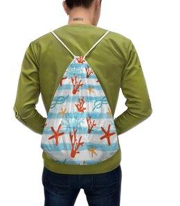 """Рюкзак с полной запечаткой """"Морская"""" - стиль, кораллы, морская звезда, морской, море"""