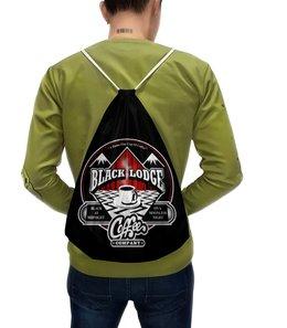 """Рюкзак с полной запечаткой """"Твин Пикс"""" - кофе, twin peaks, твин пикс, чёрный вигвам, black lodge"""