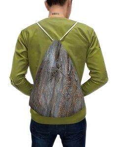 """Рюкзак-мешок с полной запечаткой """"Паук."""" - насекомое, паук, пауки, макро мир, древесина"""
