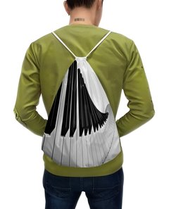 """Рюкзак с полной запечаткой """"Музыка"""" - музыка, клавиши, музыкальные инструменты, ноты, пианино"""