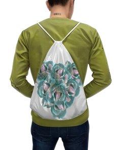 """Рюкзак-мешок с полной запечаткой """"Ледяные розы"""" - сердце, цветы, пастель, букет, нежные цветы"""