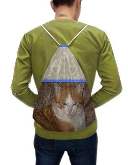 """Рюкзак-мешок с полной запечаткой """"Мистер внушительный!"""" - кот, котэ, котик, рыжий кот, котяра"""