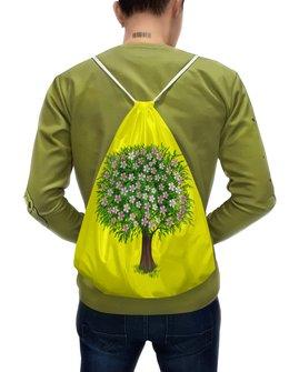 """Рюкзак-мешок с полной запечаткой """"Цветочное дерево."""" - цветы, растение, настроение, весна, дерево"""