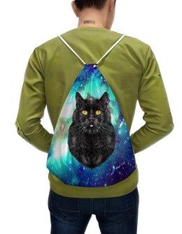 """Рюкзак-мешок с полной запечаткой """"Кот в космосе"""" - кот, звезды, котенок, космос, коты в космосе"""