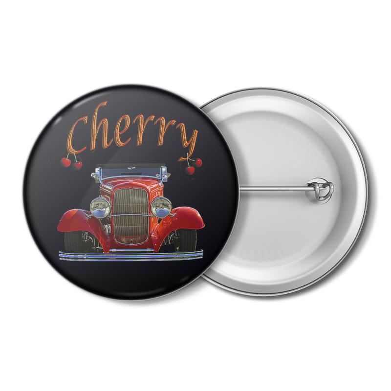 Значок Printio Крутые тачки. cherry