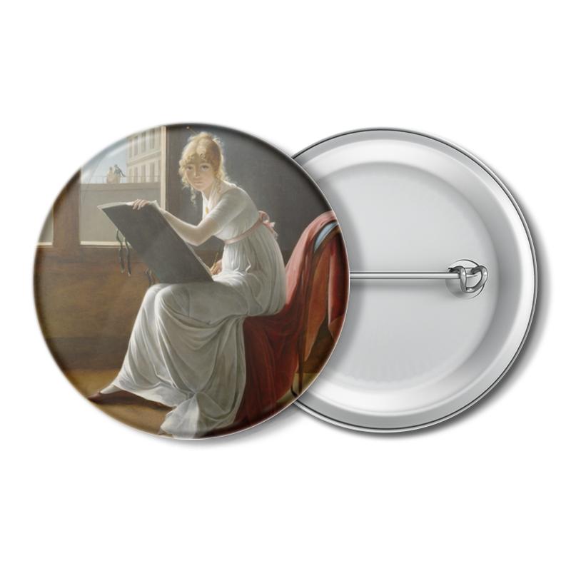 Значок Printio Портрет молодой женщины (мари-дениз вильер)