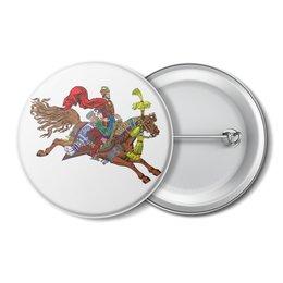 """Значок """"Дюк Степанович"""" - лошадь, конь, полёт, билибин"""