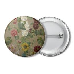 "Значок ""Цветы (картина Эжена Делакруа)"" - цветы, картина, живопись, делакруа, романтизм"
