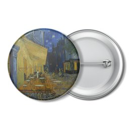 """Значок """"Ночная терраса кафе ( Винсент Ван Гог)"""" - картина, ван гог, живопись"""