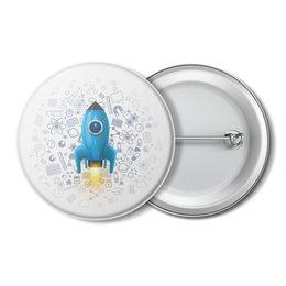 """Значок """"Космос"""" - космос, наука, ракета"""
