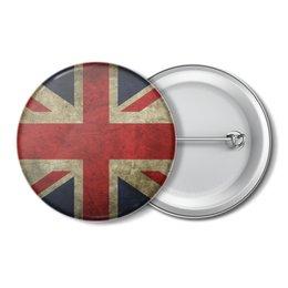 """Значок """"Флаг Британии"""" - англия, флаг, британия"""
