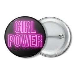 """Значок """"Girl power неон"""" - феминизм, feminist, feminism, феминистка, girlpower"""