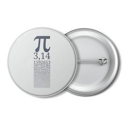 """Значок """"Число Пи"""" - математика, алгебра, гик, число, пи"""