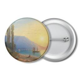"""Значок """"Закат в Ялте (картина Айвазовского)"""" - картина, пейзаж, живопись, крым, айвазовский"""