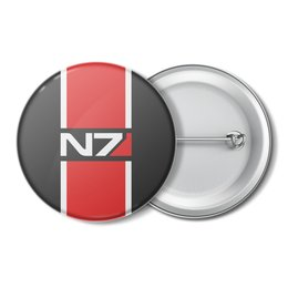 "Значок ""Mass Effect"" - игры, mass effect, n7, масс эффект"