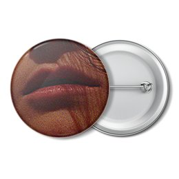 """Значок """"Губы."""" - девушка, губы, рот, страсть, юность"""