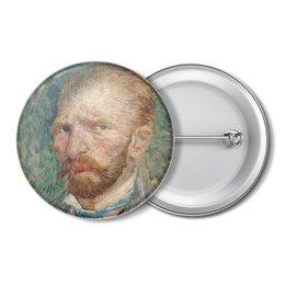 """Значок """"Винсент ван Гог (автопортрет)"""" - картина, ван гог, живопись"""