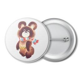"Значок ""Олимпийский мишка (Олимпиада 1980)"" - спорт, ссср, медведь, россия"