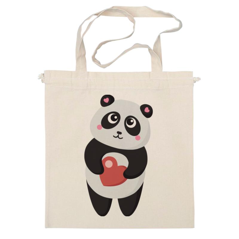 Сумка Printio Панда с сердечком сумка printio делай с любовью
