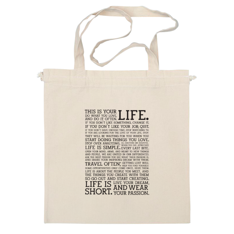Сумка Printio This is your life bag adorn your life