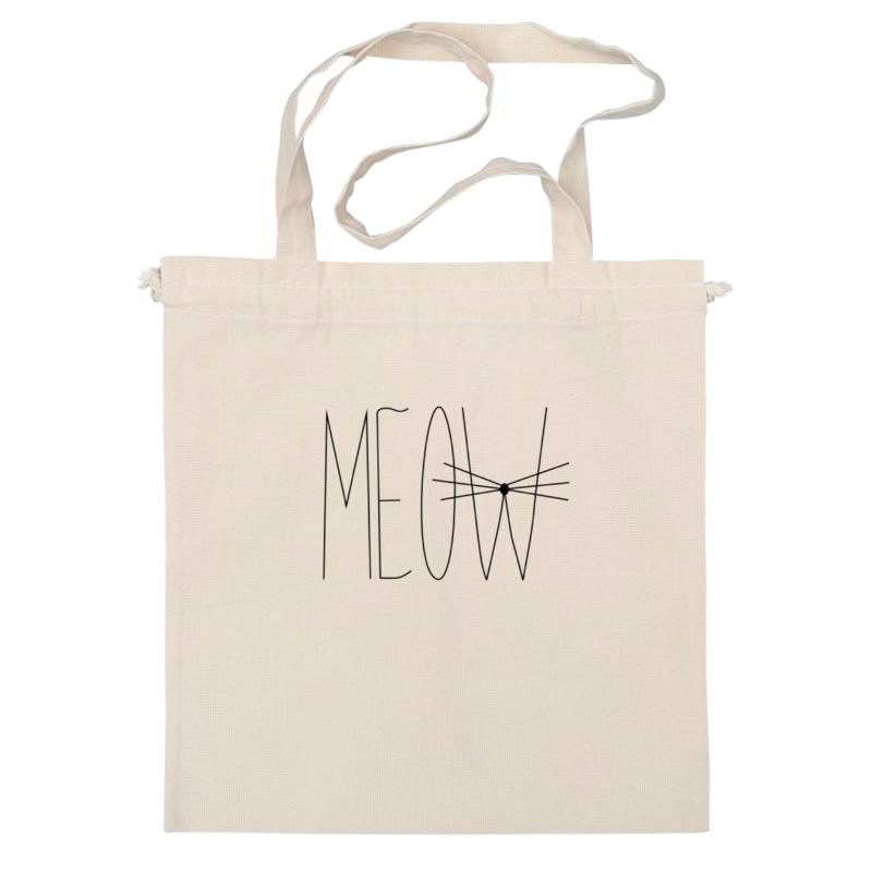 Сумка Printio Meow-meow :) grid print round storage basket