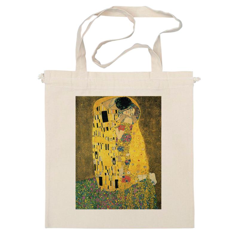 Сумка Printio Поцелуй женская сумка шопер с принтом коричневая коллекция elole design поцелуй густав климт нат кожа