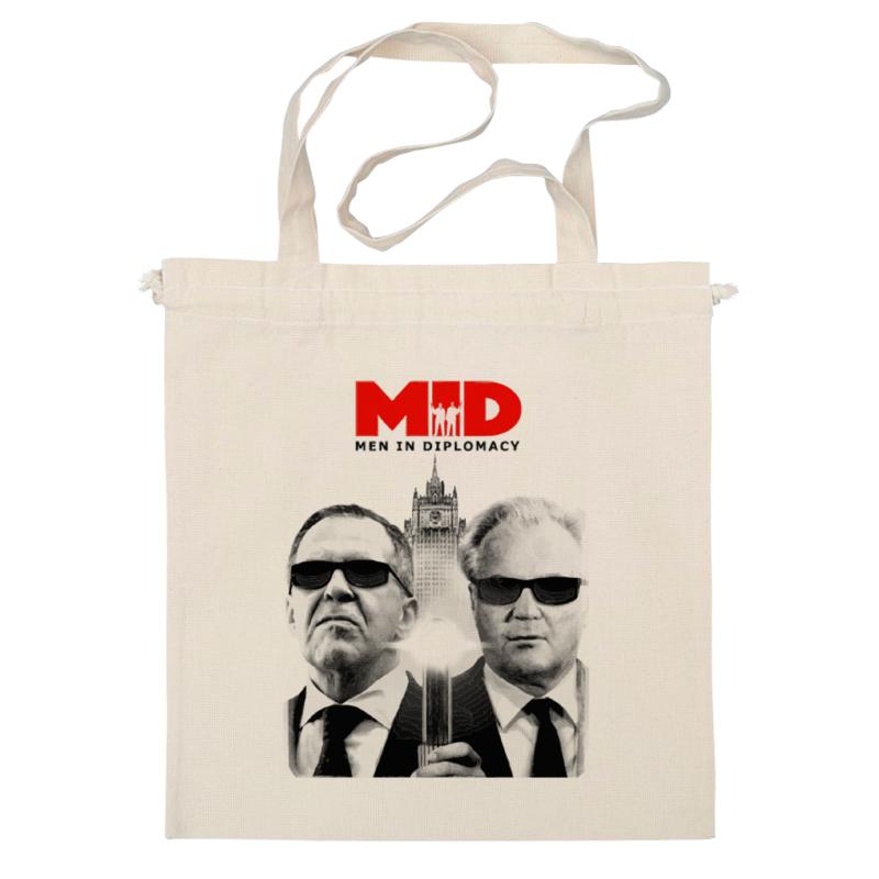 Фото - Сумка Printio Mid - men in diplomacy 2018 new vintage men s messenger bags canvas shoulder bag fashion men business crossbody printing travel small handbag
