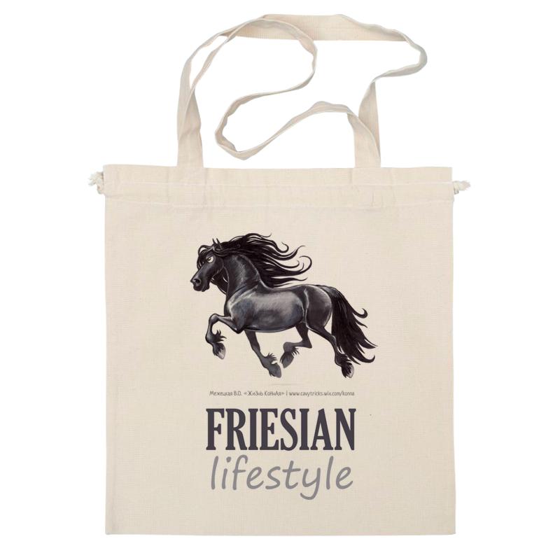 Сумка Printio Friesian lifestyle купить щебень на севере москвы