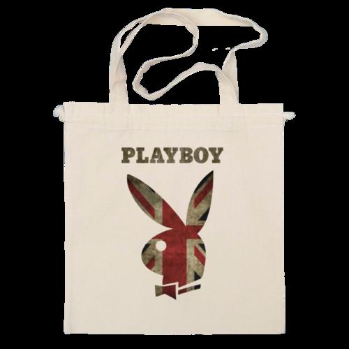 """Сумка """"Playboy Британский флаг"""" - playboy, плейбой, зайчик, великобритания, плэйбой"""