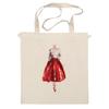 "Сумка ""Red skirt, red lips"" - красный, мода, fashion, красная юбка"
