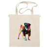 """Сумка """"Мопс-космос"""" - радуга, dog, pug, космос, собака, цветная, мопс, suit"""