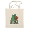 "Сумка ""Welcome to Russia"" - bear, медведь, россия, welcome to russia"