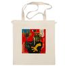 """Сумка """"Basquiat"""" - граффити, робот, basquiat, баския, жан-мишель баския"""