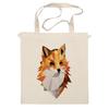 """Сумка """"Poly Fox"""" - fox, лиса, лисица, полигоны"""