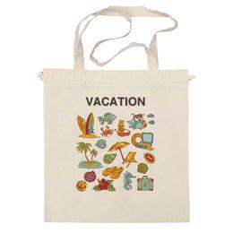 "Сумка ""Vacation"" - лето, солнце, море, пляж, сумка, рисунки, summer, beach, beach bag, sea"