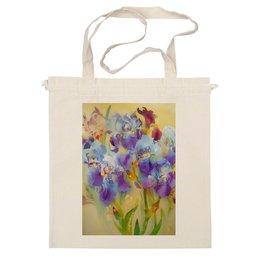 """Сумка """"Весенние ирисы."""" - цветы, весна, в подарок, ирисы, flowers, живопись, весеннее, букет ирисов, iris flowers, iris garden"""