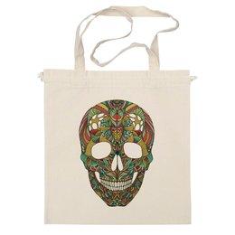 "Сумка ""Череп"" - череп, узор, сова, паттерн, символ, дудл, skull"
