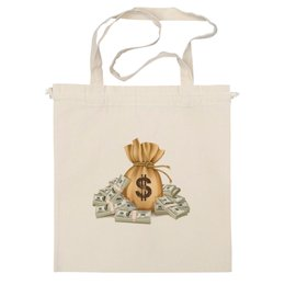 """Сумка """"Доллар"""" - деньги, доллар, мешок денег, пачки денег"""