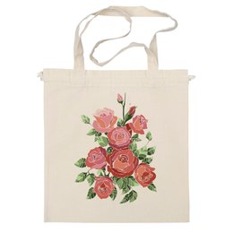 """Сумка """"Розы_батик"""" - арт, девушка, в подарок, pink, розы, roses, шиповник, батик, nopperapon"""