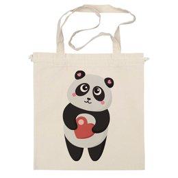"""Сумка """"Панда с сердечком"""" - сердце, любовь, панда"""
