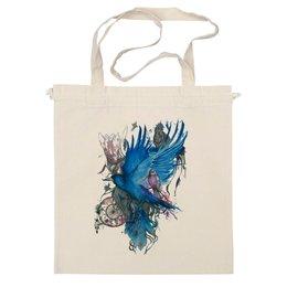 """Сумка """"ART ZOO"""" - birds, blue, синие птицы"""